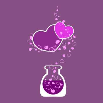 Chemical test tube with heart for valentine card - vector gratuit #126688