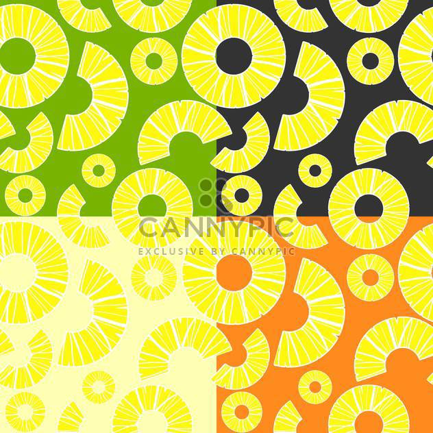 Vector background with colorful pineapples - vector #126698 gratis