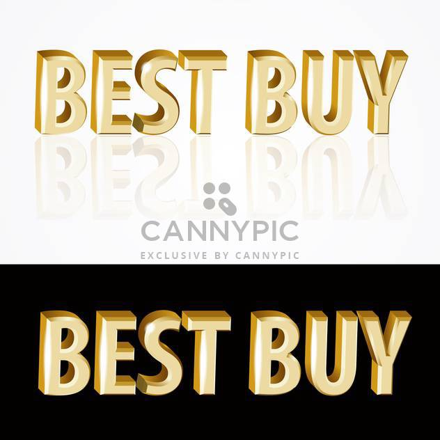 golden best buy signs on black and white backgrounds - Free vector #126748