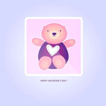 vector illustration of cute valentine teddy bear - vector gratuit #126848