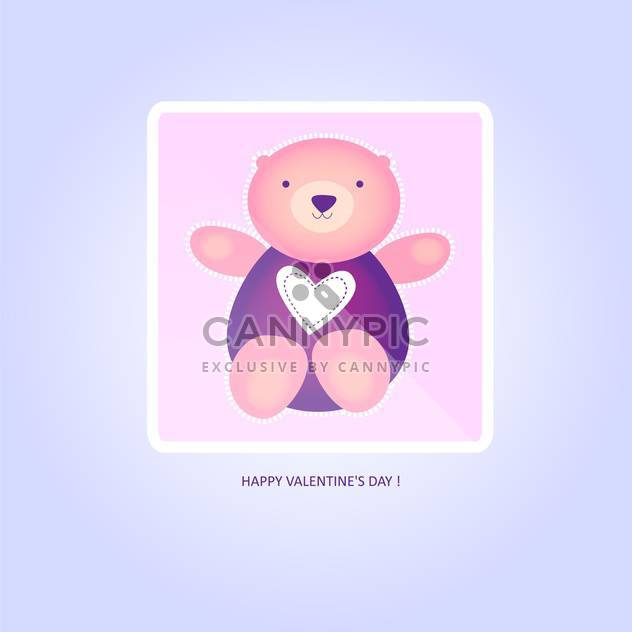 vector illustration of cute valentine teddy bear - Free vector #126848