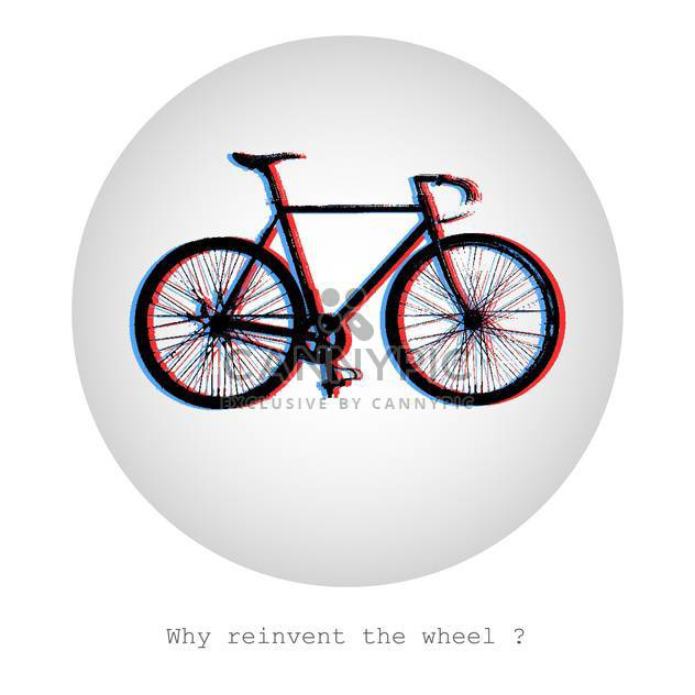 concept vector illustration of bike in bubble on white background - Free vector #126978
