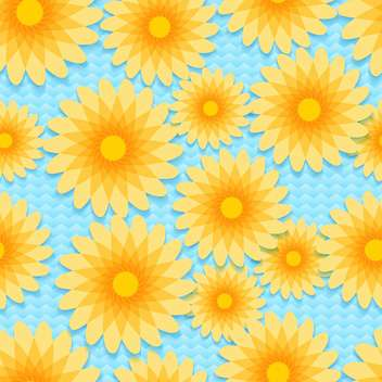 Vector background with colorful flowers with text place - vector gratuit #126988