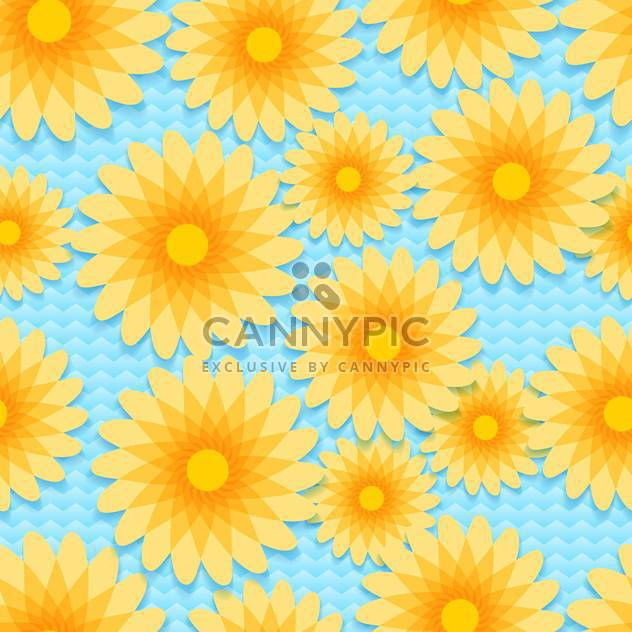 Vector background with colorful flowers with text place - Free vector #126988