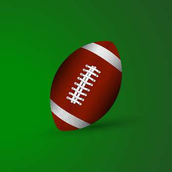 Vector illustration of ball for american football on green background - vector gratuit #127078