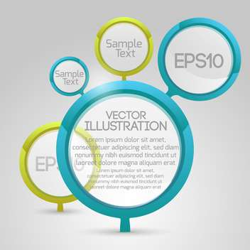 Vector circle banners on white background with text place - vector #127148 gratis