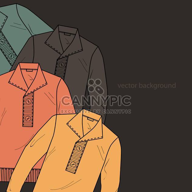 Vector background with male sweaters - бесплатный vector #127178