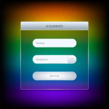 websites ui elements on colorful background - vector gratuit #127198