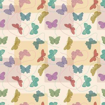 Vector illustration of seamless butterflies background - бесплатный vector #127308