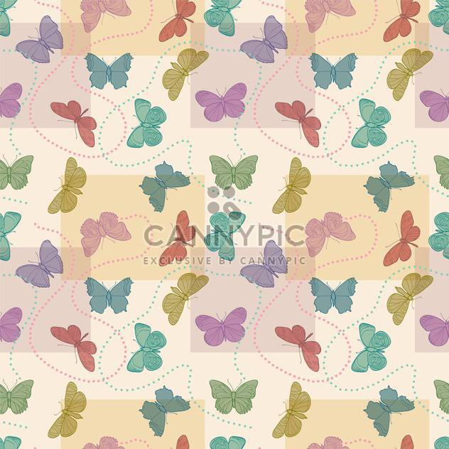 Vector illustration of seamless butterflies background - Free vector #127308