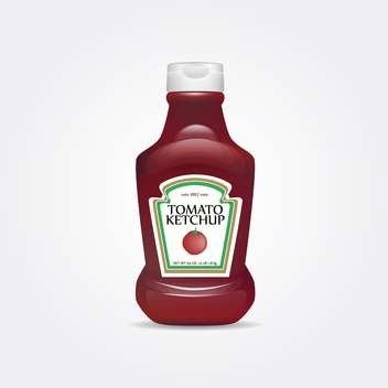 tomato ketchup bottle isolated on white background - vector gratuit #127428
