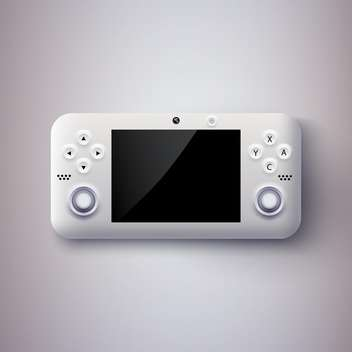 Vector illustration of game console on grey background - vector gratuit #127438