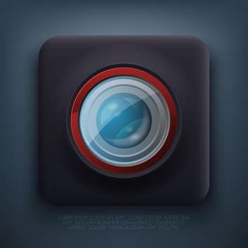 vector illustration of web camera icon - vector gratuit #127528