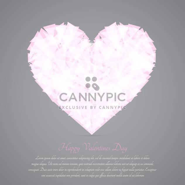Glass broken heart on grey background for valentine card - Free vector #127608