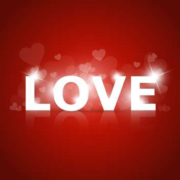 Vector shining sign of love on red background - vector gratuit #127638