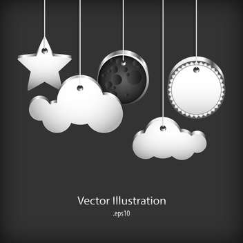 speech bubbles on black background - vector gratuit #127768