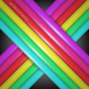 Rainbow gradient lines on dark background - vector gratuit #127788