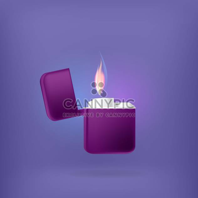vector colorful illustration of lighter on blue background - Free vector #127838