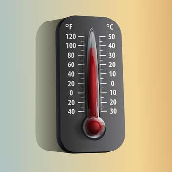 vector illustration of Thermometer on orange and grey background - бесплатный vector #127908