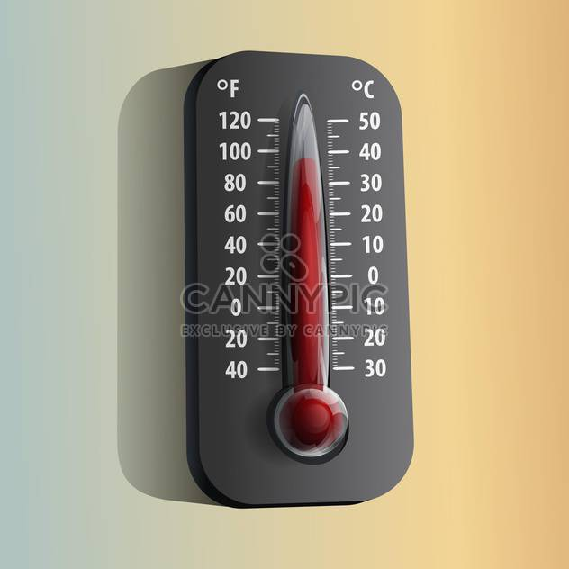 vector illustration of Thermometer on orange and grey background - Free vector #127908