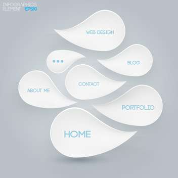 Internet concept drops with text on grey background - vector #127918 gratis