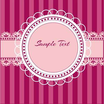 vector illustration of pink birthday background with round shaped lace and text place - Kostenloses vector #127938