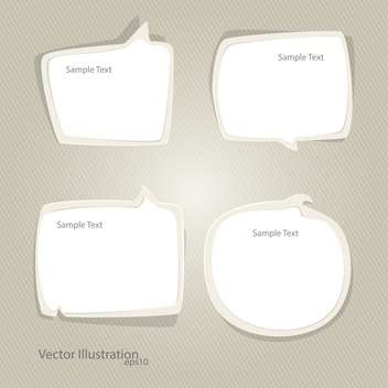 Vector set of speech bubbles with text place - vector gratuit #128008