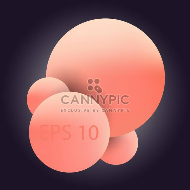 vector illustration of pink bubbles on dark background - Free vector #128068