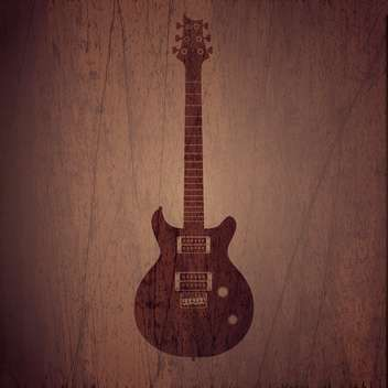 Vector wooden background with electric guitar - vector gratuit #128098