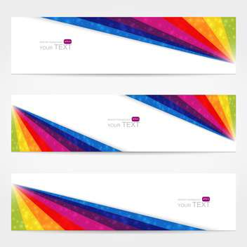 website banner set with text place - vector gratuit #128108