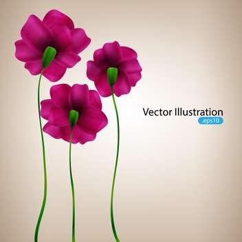 Vector background with pink flowers - vector gratuit #128278