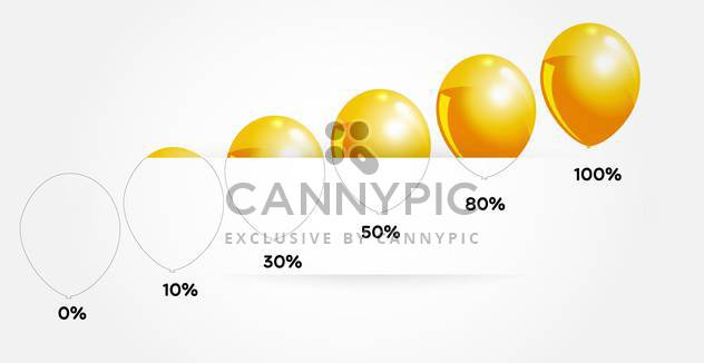 Vector infographic yellow balloons - Free vector #128298
