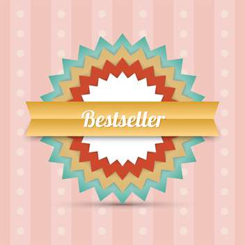 Vector label bestseller background - vector gratuit #128308