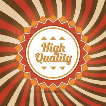 High quality badge background - vector gratuit #128318