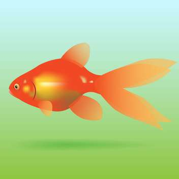 swimming goldfish vector icon - vector gratuit #128338