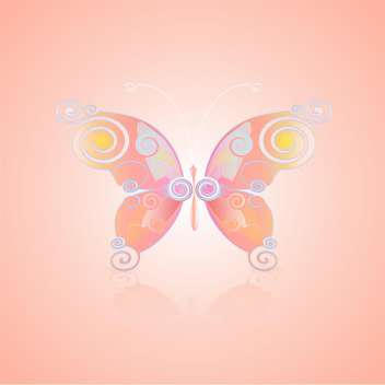 cute vector butterfly icon - Kostenloses vector #128358
