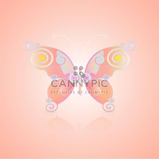 cute vector butterfly icon - Free vector #128358