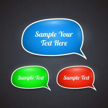 Vector set of colorful speech bubbles - Free vector #128478