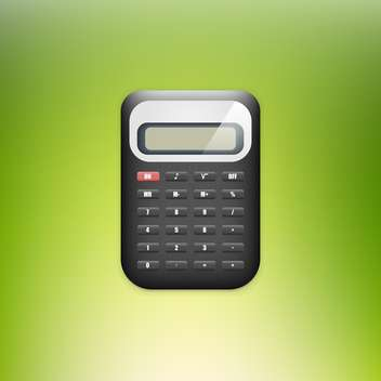 Vector illustration of calculator on green background - Free vector #128548