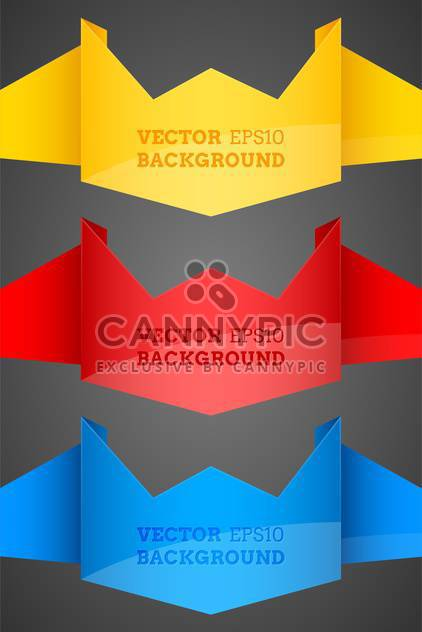 Abstract vector origami backgrounds - Free vector #128578