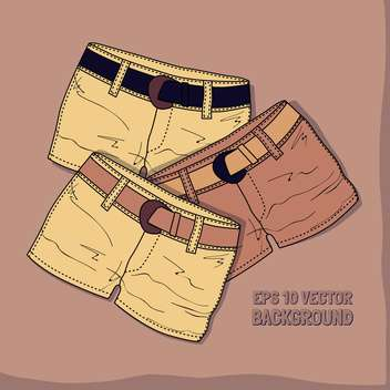 Vector background with different shorts. - vector #128598 gratis