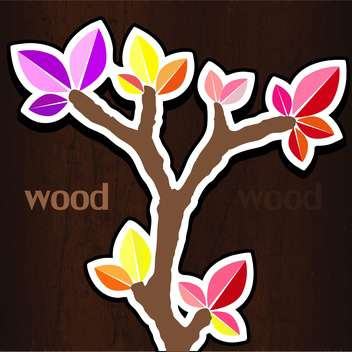 Vector illustration of colorful spring tree - vector gratuit #128638