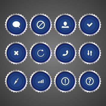 Vector web blue icon set - vector #128688 gratis