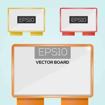 Vector illustration of clear billboards with copy space - vector gratuit #128698