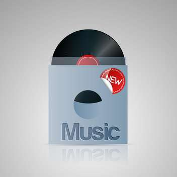 Vector illustration of vinyl music disc. - vector gratuit #128728
