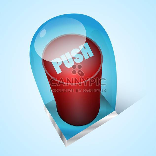 Vector push red button under glass - Free vector #128758
