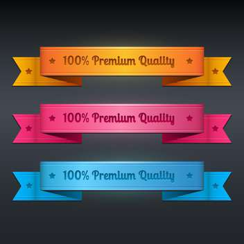 Vector set of ribbon collection of premium quality - vector gratuit #128768