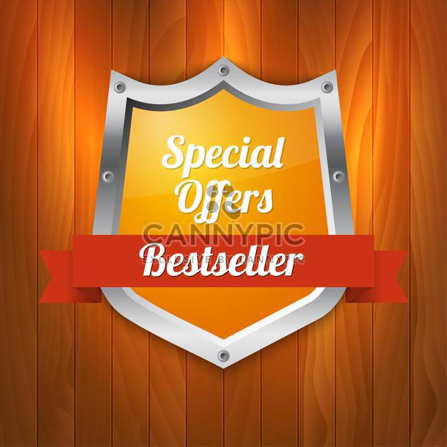 Vector illustration of special offers and bestseller shield - Free vector #128808