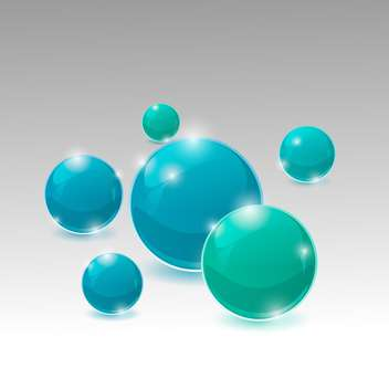 Vector illustration of blue and green bubbles - vector gratuit #128858