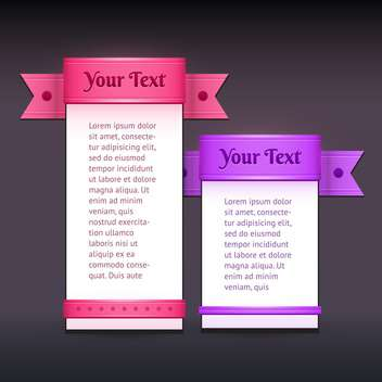 Vector banners with colorful ribbons - vector gratuit #128868